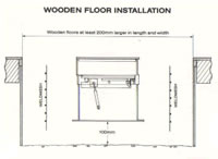 To Install The Safe Into A Wooden Floor, Arrange Timber Shuttering To Form  An Area Which Is At Least 200mm Larger In Length And Width And 100mm Deeper  Than ...