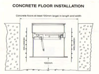 To Install The Safe Into An Existing Concrete Floor Prepare A Hole Which Is  At Least 100mm Larger In Width, Depth And Length Than The Safe.